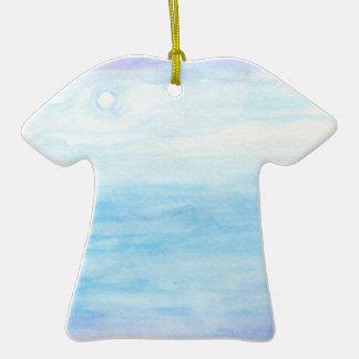 Evening Sky Over Alki Beach Ceramic T-Shirt Ornament