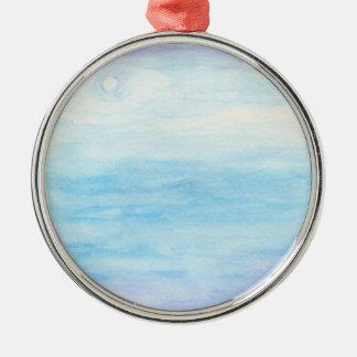 Evening Sky Over Alki Beach Silver-Colored Round Ornament
