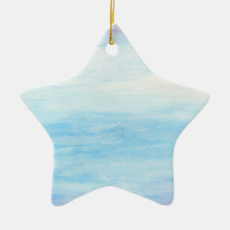 Evening Sky Over Alki Beach Ceramic Star Ornament