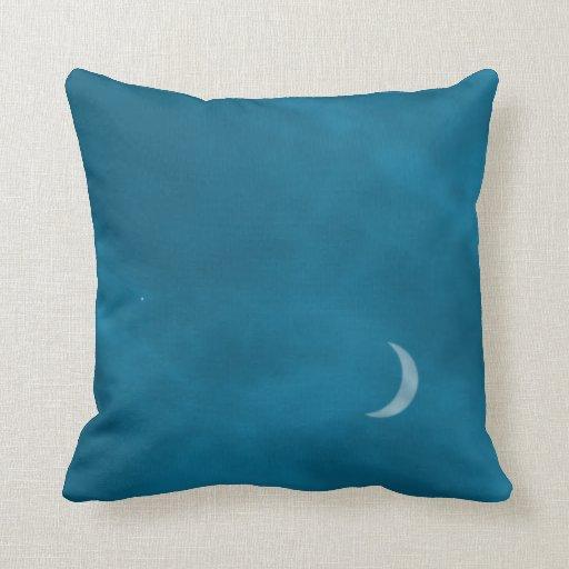 Evening sky pillow