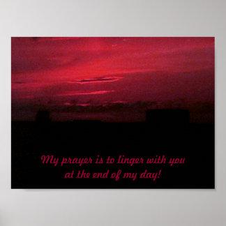 Evening sky Print