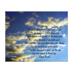 Evening Sky-with Destiny Quote Canvas Prints
