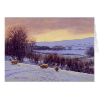 Evening Snow I by Donna Crawshaw Card
