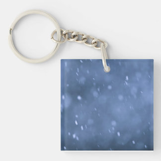 Evening snow Double-Sided square acrylic keychain