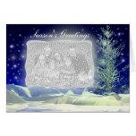 Evening Snow (photo frame) Card