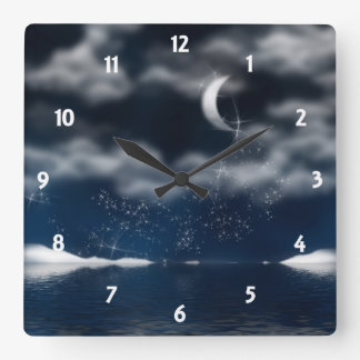 Evening Sparkles  Wall Clock