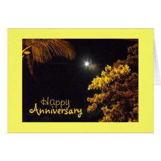 Evening Star In Lahaina, Hawaii, Anniversary Card