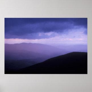 Evening Storm over Mount Greylock Poster