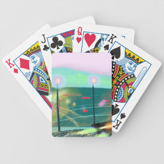 Evening streets of San Francisco Bicycle Playing Cards