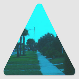 Evening Stroll at Isle of Palms Triangle Sticker