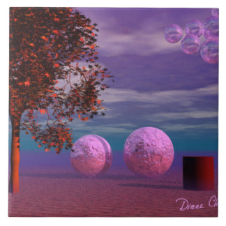 Evening Stroll - Purple and Pink Glow Ceramic Tile