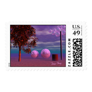 Evening Stroll - Purple and Pink Glow Postage