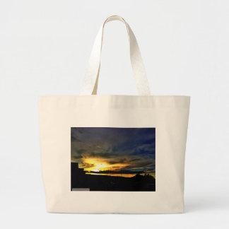 Evening Summer Sunset Large Tote Bag