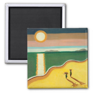 Evening Sun 2010 2 Inch Square Magnet