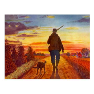Evening Sun Best Buddies Sunset On Fields Postcard