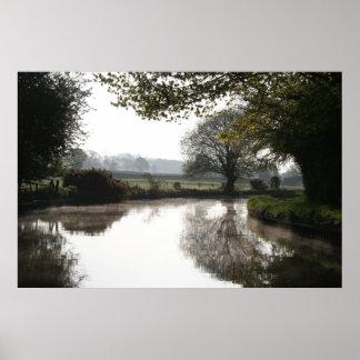 Evening Sun Llangollen Canal Print