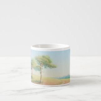 Evening Sun, New Forest Pine Trees Espresso Mug
