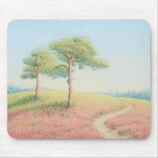 Evening Sun, New Forest Pine Trees Mouse Pad