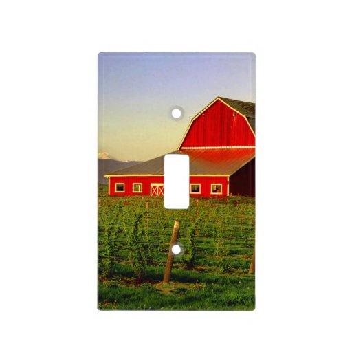 Barn Light Covers: Evening Sun On A Barn In Washington's Skagit Light Switch