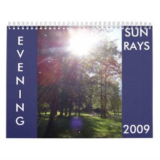 EVENING SUN RAYS 2009 calender Calendar