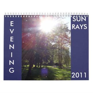 EVENING SUN RAYS 2011 calender Calendar