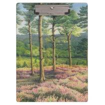 Evening Sun, Surrey Hills Pines in Pastel Clipboard