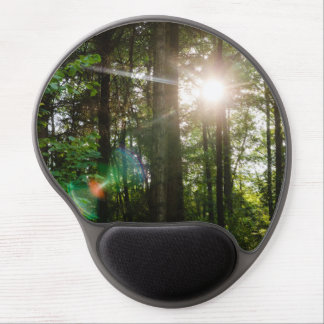 Evening Sunlight In A Forest Landscape Gel Mouse Pad