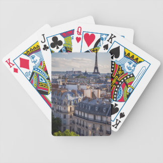 Evening sunlight over the buildings of Paris Bicycle Playing Cards