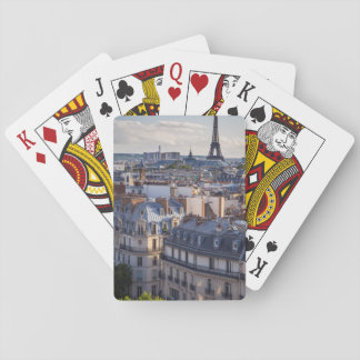 Evening sunlight over the buildings of Paris Playing Cards