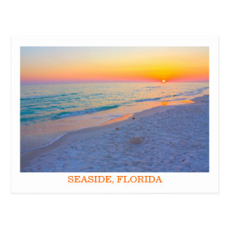 Evening Sunset on the Beach in Florida postcard
