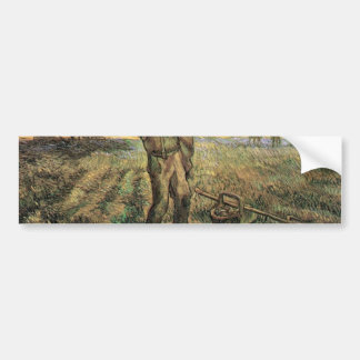 Evening: The End of the Day  by van Gogh Bumper Sticker