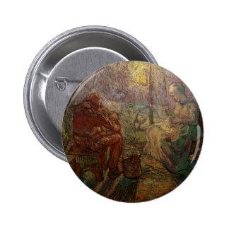 Evening The Watch after Millet - Vincent van Gogh Pinback Button