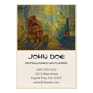 Evening - The Watch by Vincent Van Gogh Business Card Templates