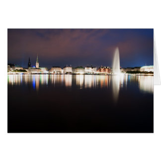 Evening to the Binnenalster Card