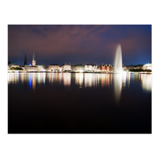 Evening to the Binnenalster Postcard