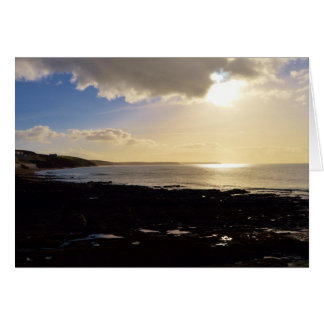 Evening View from Porthleven Cornwall England Greeting Cards