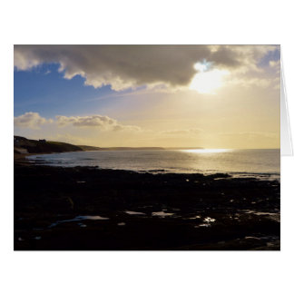 Evening View from Porthleven Cornwall England Card