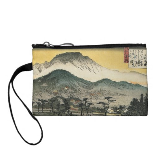 Evening view of a temple in the hills by Ando H. Change Purses