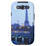 Evening view of Eiffel Tower at moonrise Galaxy S3 Case