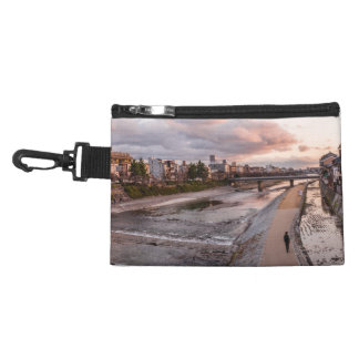 Evening walk along the Kamo River in Kyoto Accessory Bags