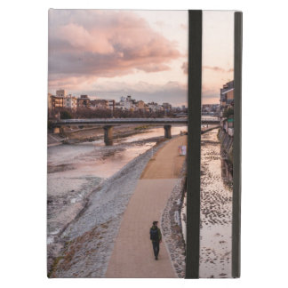 Evening walk along the Kamo River in Kyoto iPad Air Cases