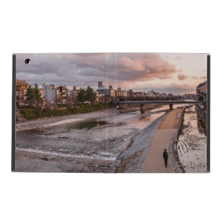 Evening walk along the Kamo River in Kyoto iPad Case