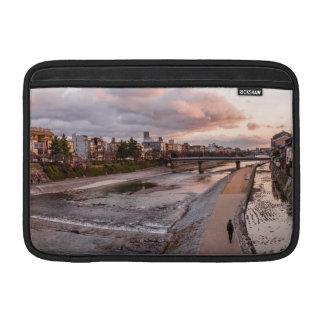Evening walk along the Kamo River in Kyoto MacBook Air Sleeve