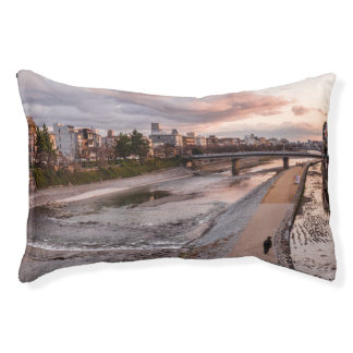 Evening walk along the Kamo River in Kyoto Pet Bed