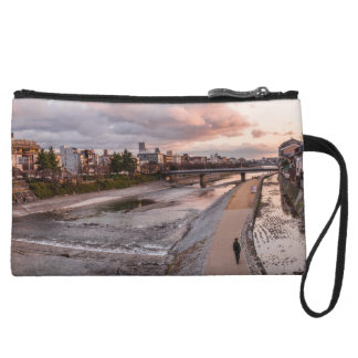Evening walk along the Kamo River in Kyoto Wristlet