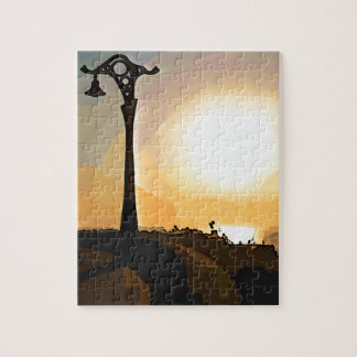 Evening Waterfront Stroll Jigsaw Puzzle