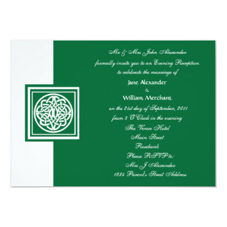 Evening Wedding Celtic Knot Color Select Card
