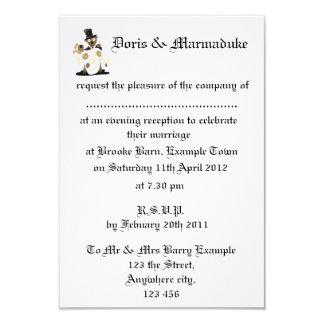 Evening wedding reception Invite