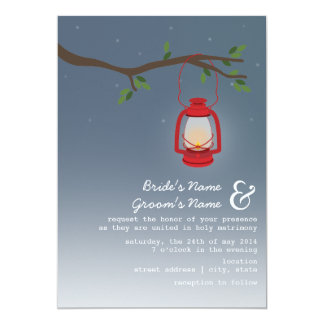 Evening Wedding - Red Oil Lantern Card