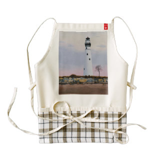 Evening's Lighthouse Zazzle HEART Apron